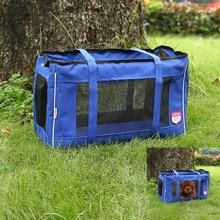 Folding and ventilated Dog Cat Fabric Soft Pet Crate Kennel Cage Carrier House(China (Mainland))