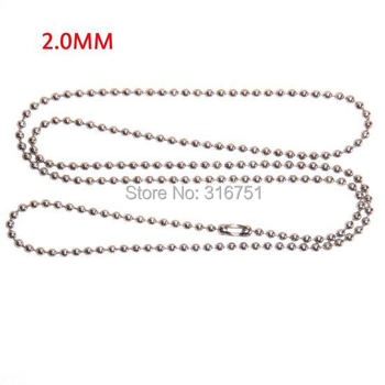 """Hot Sale Free Shipping 10 Strand Silver Plated Ball Beads Chain Necklace 2mm Bead Connector 70cm(27"""")(w01749 X 1) Aa"""