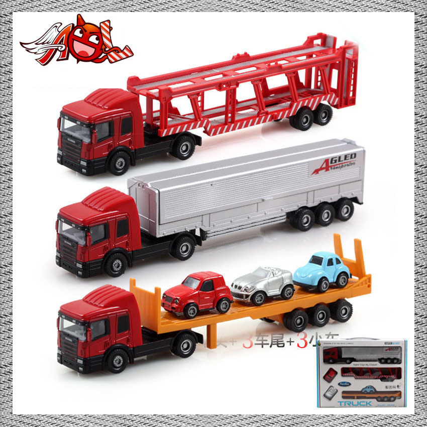 Brand New Alloy Trail Car Set Truck Model Toys Emulational Truck Models kids Toys for Children as Gift Free Shipping(China (Mainland))