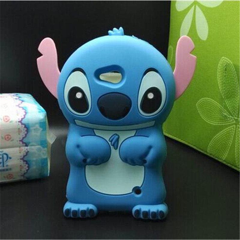 Soft Silicone Cover For Nokia Microsoft Lumia 630/640 Compact New Lilo 3D cartoon Blue Stitch phone case For Nokia 640/630(China (Mainland))