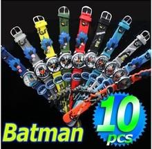 Lovely 3D Cartoon Batman Watch Children Kids Boys Girls Students Quartz watch 1pcs