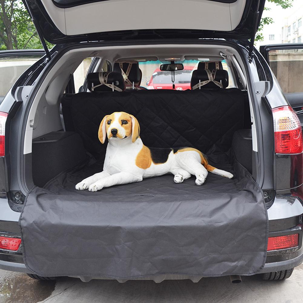 black plaid oxford fabric and sponge pet dog car suv car seat waterproof protector van trunk. Black Bedroom Furniture Sets. Home Design Ideas