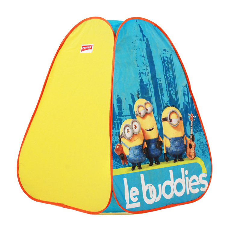 New Arrival Children Tent / Game Manufacturers Selling Small Yellow House Four Tents Full Automatic for kid gift(China (Mainland))