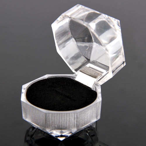 Elegant Useful Portable 1pc Acrylic New Transparent Rings Display Box Organizer Gift Wedding Lady Case(China (Mainland))