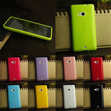 OWNEST Soft Silicone Gel TPU Slim Case Back Cover for Nokia Microsoft Lumia 535 Phone Rubber silicone Cases 9 colours