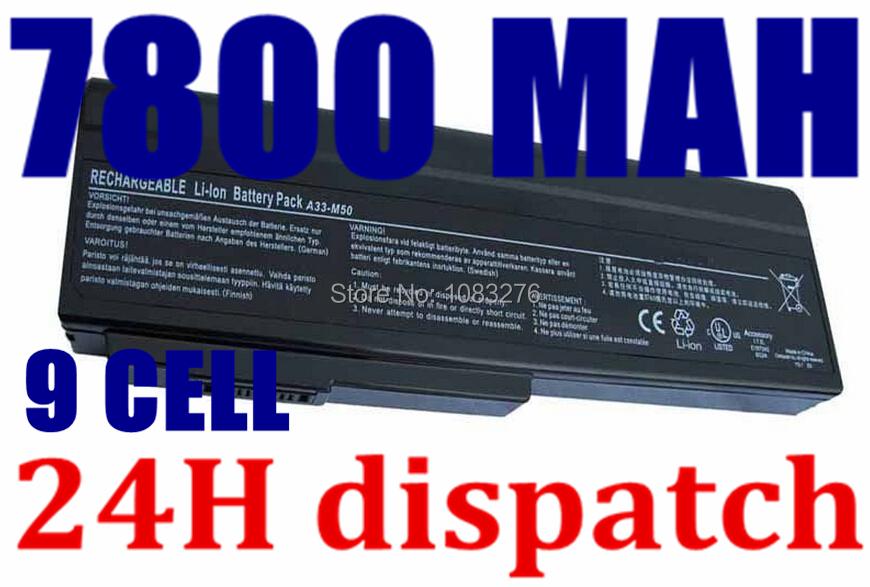 7800mAH Laptop Battery for Asus N61J N61D N61V N61VG N61JA N61JV N53 A32-M50 M50s N53S N53SV A32-M50 A32-N61 A32-X64 A33-M50 <br><br>Aliexpress
