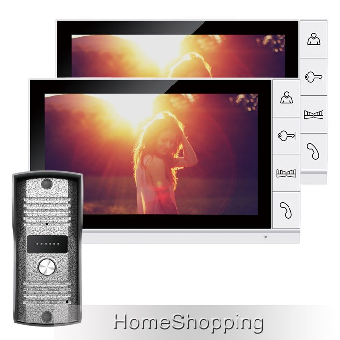 FREE SHIPPING Home Security 9 inch TFT LCD Video Intercom Door phone System 2 Screens + 1 Night Vision Outdoor Camera IN STOCK(China (Mainland))