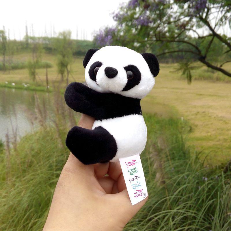 10pcs Freeshiping Sichuan Chengdu shipping souvenirs lovely toy panda cute panda plush toys(China (Mainland))