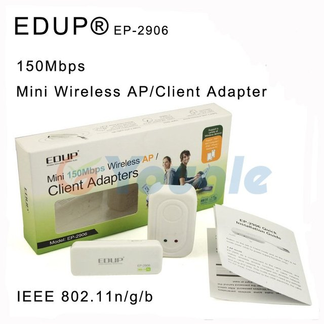 Free shipping EDUP EP-2906 Mini 150Mbps Wireless AP Client Adapter Access Point For Business Travel for iPAD iPhone PSP PC