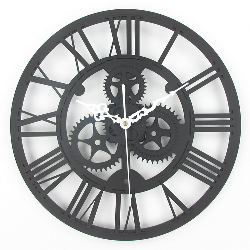 European antique gear wall clock vintage mechanical gear clock Large Gear Wall Clock For Art Home Living Room Wall Decoration(China (Mainland))