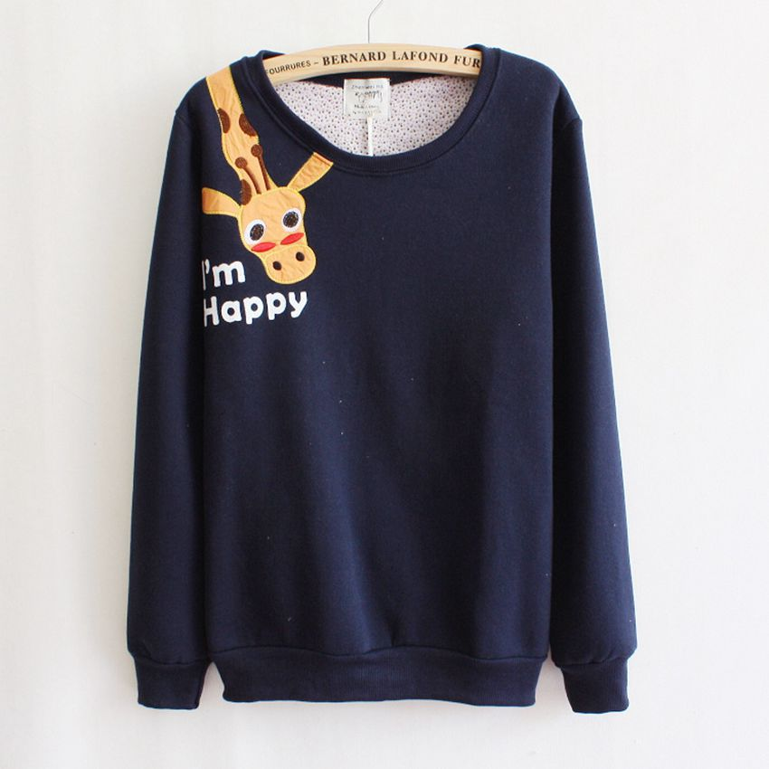 Giraffe print hoodie