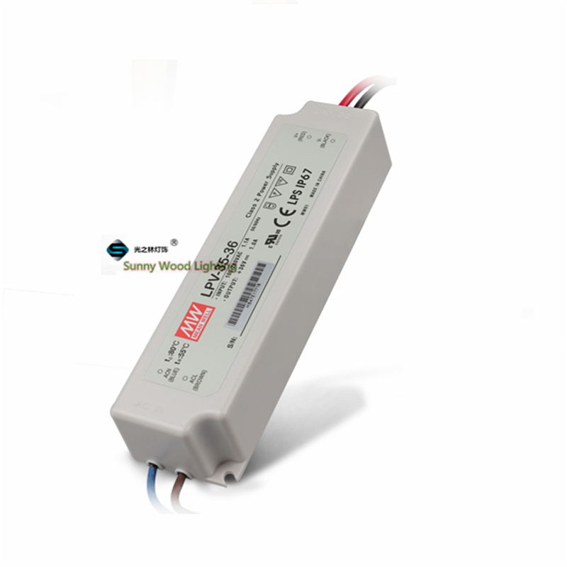 100-240Vac to 36VDC ,36W ,36V1A IP67 Mean well power supply ,UL,LPS Led light,led signboard waterproof driver ,LPV-35-36(China (Mainland))