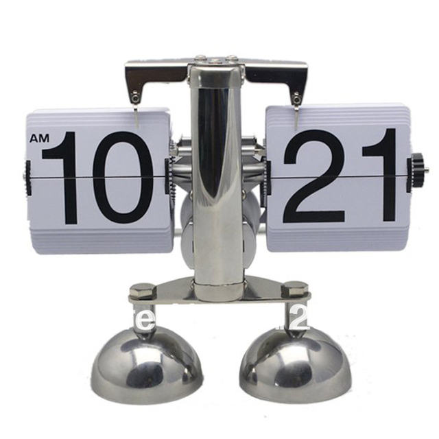 High Quality Novelty Households Desk Clock Desktop Timepiece Best Gifts to Friend Black and White Color 2pcs/lot