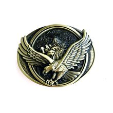 PANSY 2016 Fashion Oval Eagles Western Cowboys Belt Buckles Metal Type DIY Suitable For Width Belt Buckle Wholesale #B165(China (Mainland))