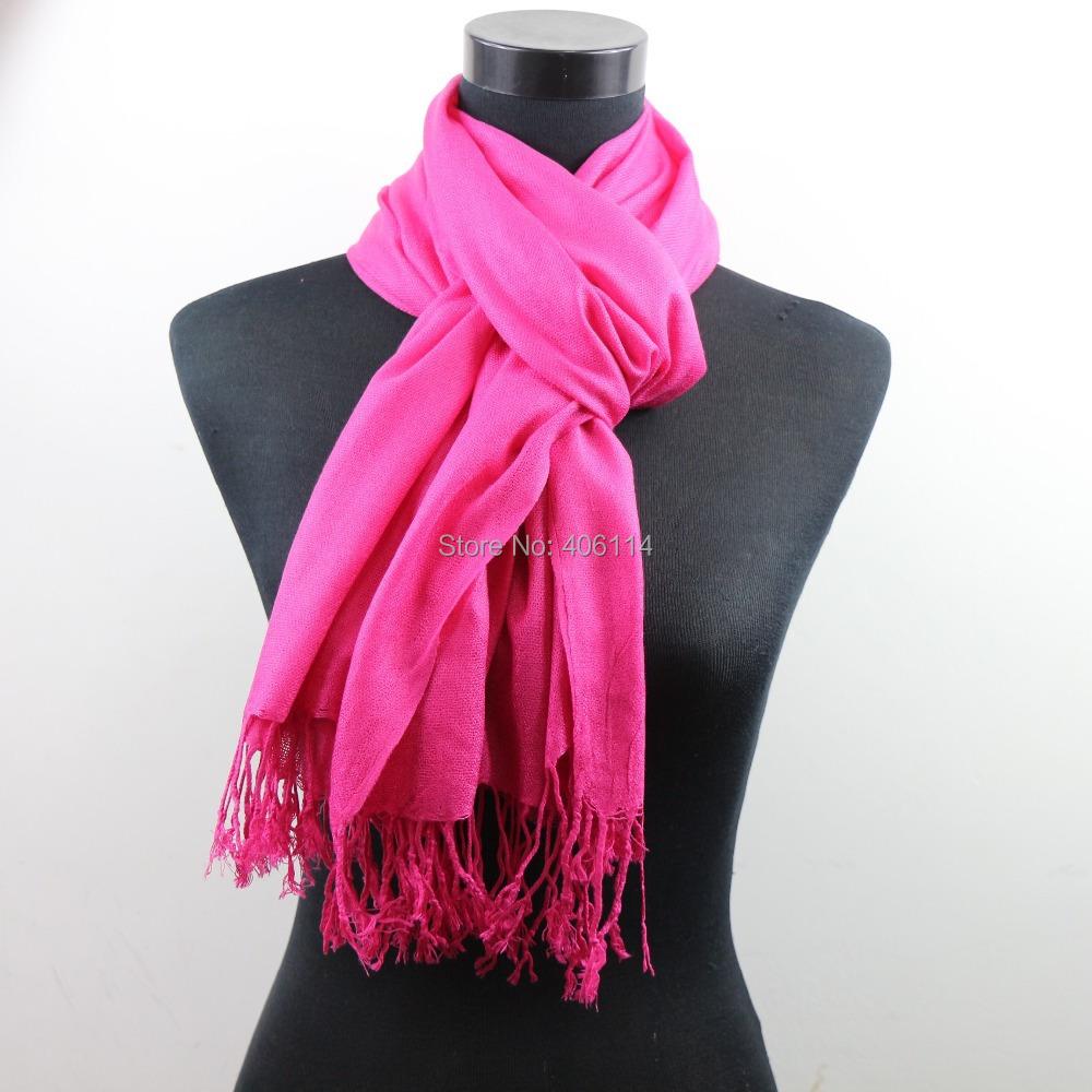 MIC 70cm x 200cm Pashmina Cashmere Solid Shawl Wrap Women's Girls Ladies Scarf Soft Fringes 1-20 - LZsilver JingMangZhuBao Store store