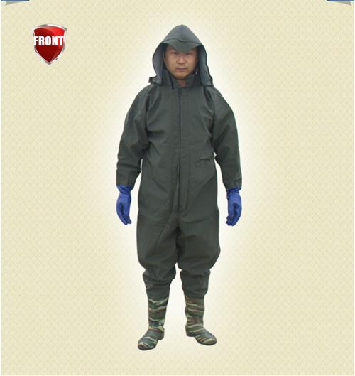 костюм для рыбалки непромокаемый дышащий с сапогами