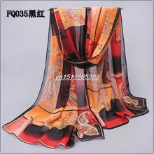 Chiffon silk scarf 2017 scarf female summer and autumn all-match scarf long design air conditioning cape silk scarves shawl(China (Mainland))