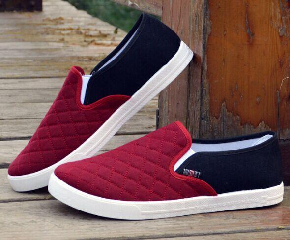 Бесплатная доставка мужчины мода свободного покроя туфли Slip on квартиры для весна ...