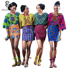 2016 summer new style African skirt for women dashiki batik print high waist pencil short skirt pure cotton plus size S-XXXXXL