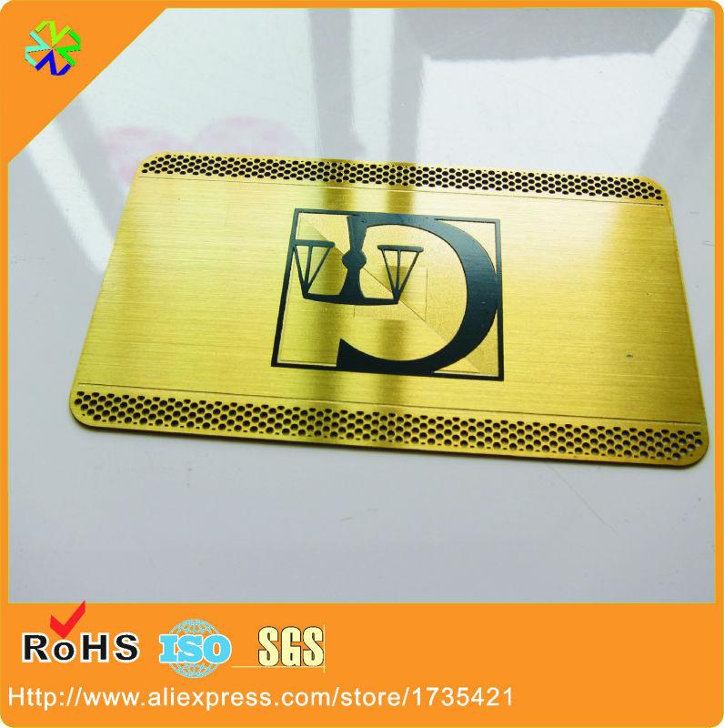 (100pcs/lot)0.5mm thickness gold plated brass metal card<br><br>Aliexpress