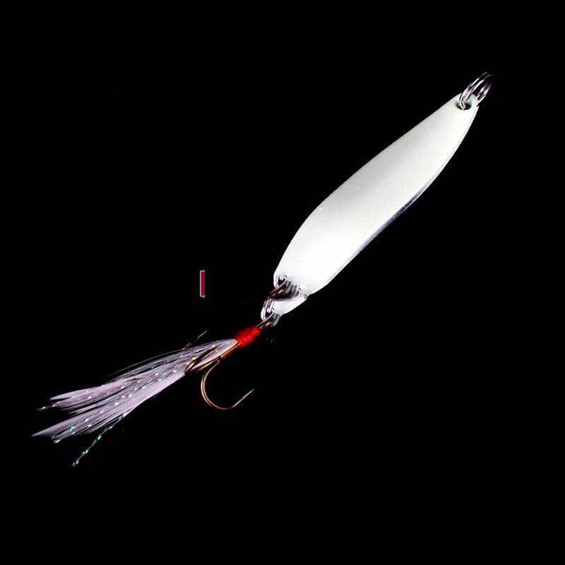 DigitaLine Market 1pcs Fish Fishing Lure Hard Baits Luminous Night Sequins With Feather Hook(China (Mainland))