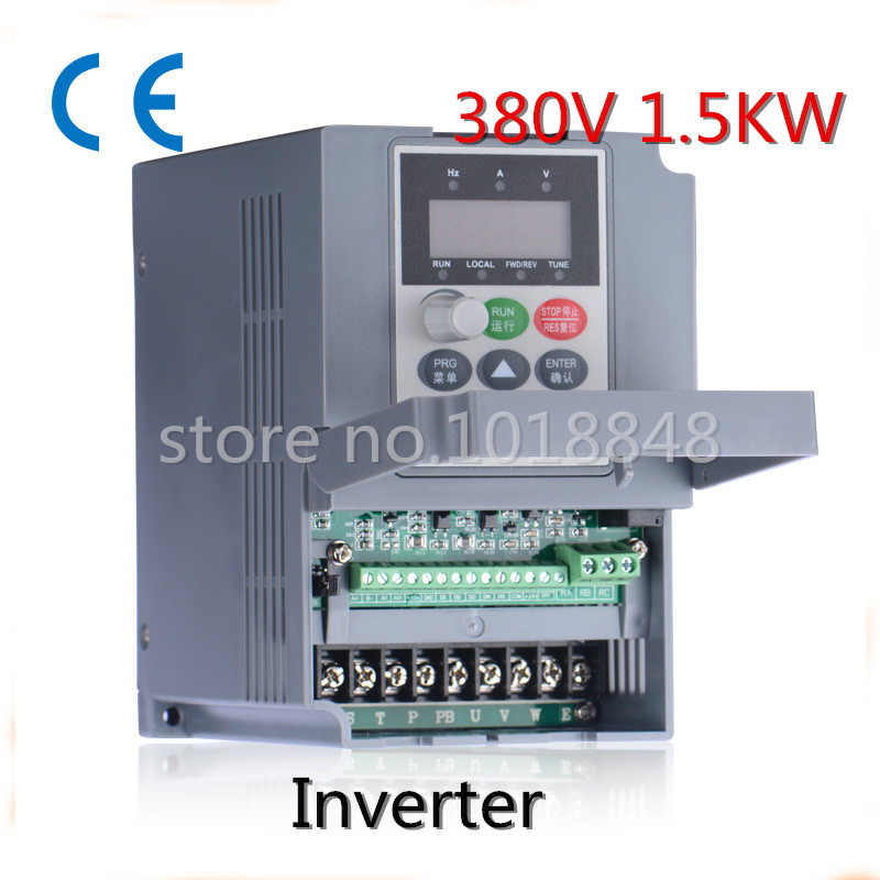 380V 1.5kw 5.1a Frequency Drive Inverter CNC Driver CNC Spindle motor Speed control,Vector converter(China (Mainland))