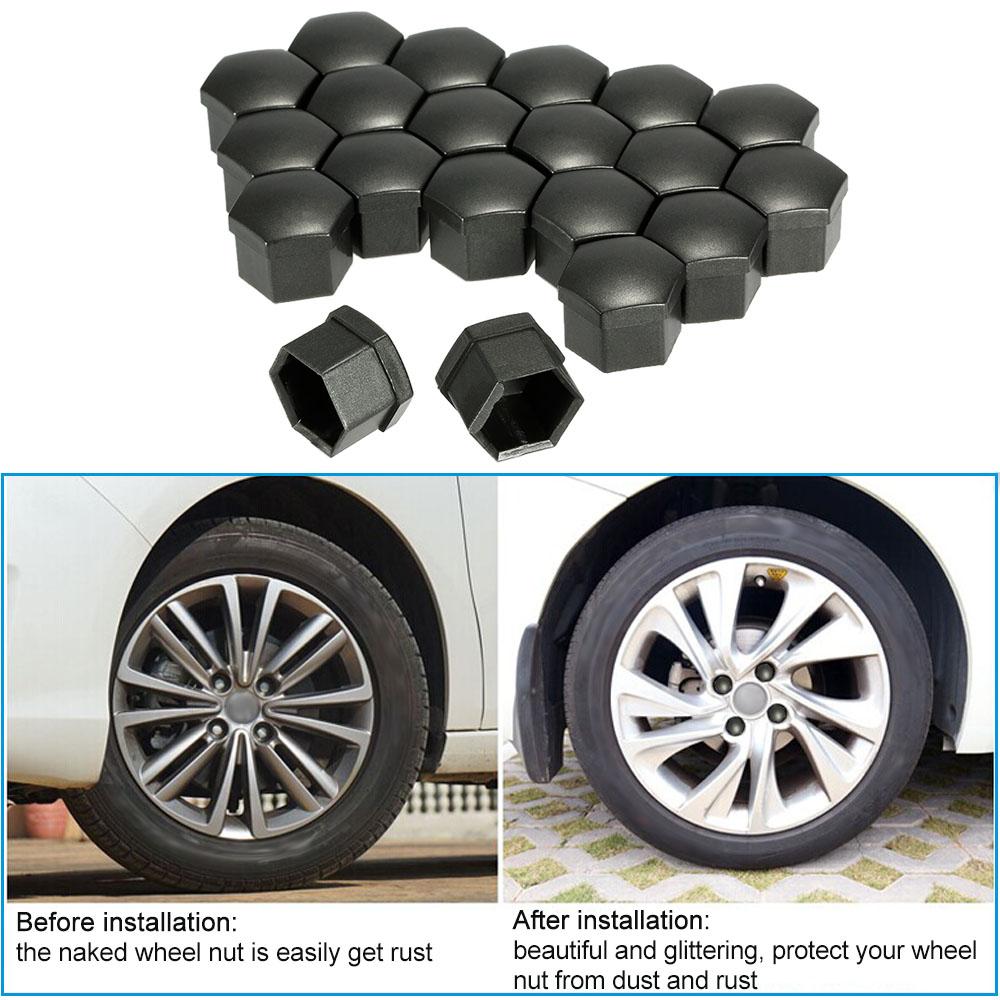 Gray Color Universal 17mm Car Wheel Chrome Plastic Nut Cover Bolt Cap for Cars(China (Mainland))