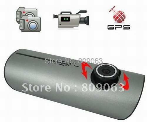 Dual Camera X3000 Car Blackbox DVR with GPS Module and 3D G Sensor function Free Shipping