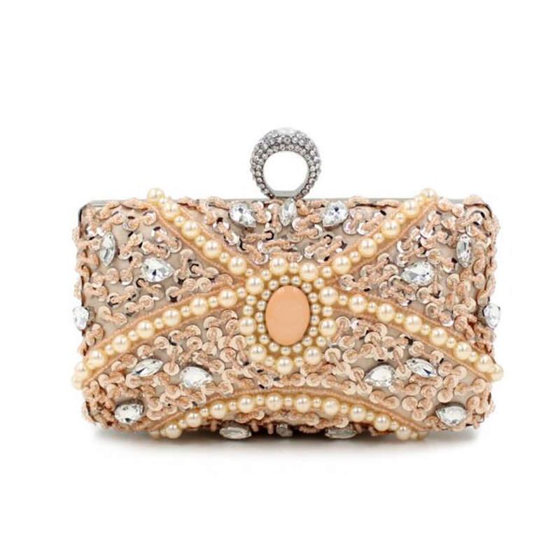 Luxury Little Beaded Paillette Clutch Bag Wedding Brides Hand Bag White Evening Bag Purses And Handbags Cross your Finger<br><br>Aliexpress
