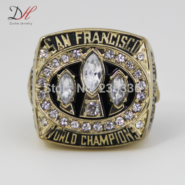 CR-20464 Free shipping cheap championship rings 1988 San Francisco 49ers championship ring with crystal Replica Ring(China (Mainland))