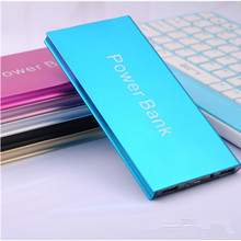 Tihn Powerbank Alloy Shell LED Lights Dual USB Interface Power bank Portable Backup Charger External Battery Pack Free Shipping