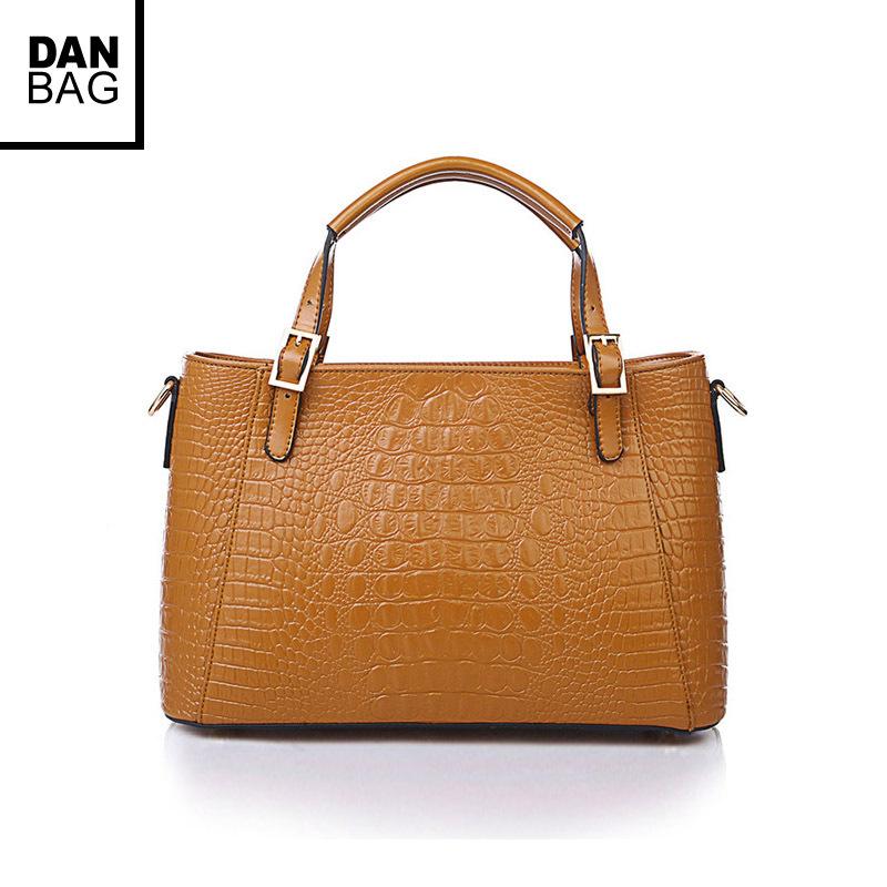 Hot European And American Fashion Style Cow Split Leather Messenger Bag Women Leather Handbags Crocodile Pattern Leather Handbag(China (Mainland))