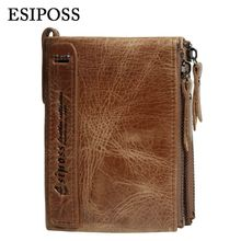 Buy Hot!!! New Mens Small Real Genuine Leather Wallets Men Wallet Short Coin Purse Vintage ID Card Holder Purse Coin Pocket for $14.07 in AliExpress store
