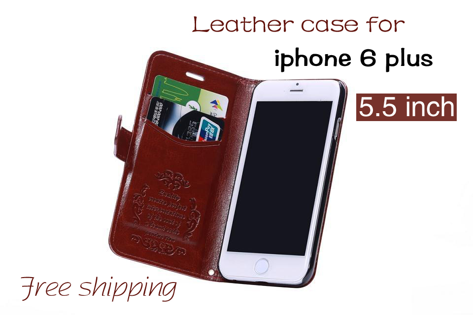 New fashion phone cover for iphone 6 plus leather case 5.5inch flip wallet photo frame phone case for apple iphone 6s plus shell(China (Mainland))