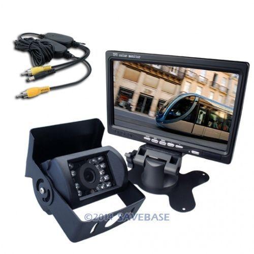 "HOMSECUR 12V Car Wireless Reversing Camera Kit With Backup Camera + 7"" TFT LCD Monitor For Truck / Van(China (Mainland))"