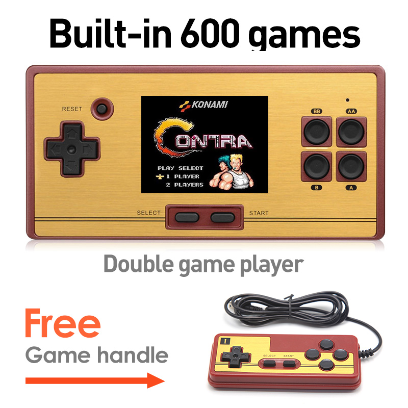 Hot Sale 2.6 Inch Retro Handheld Game Console Portable video Game Console Classic Free 600 Games Free Game Handles Gift for kid(China (Mainland))