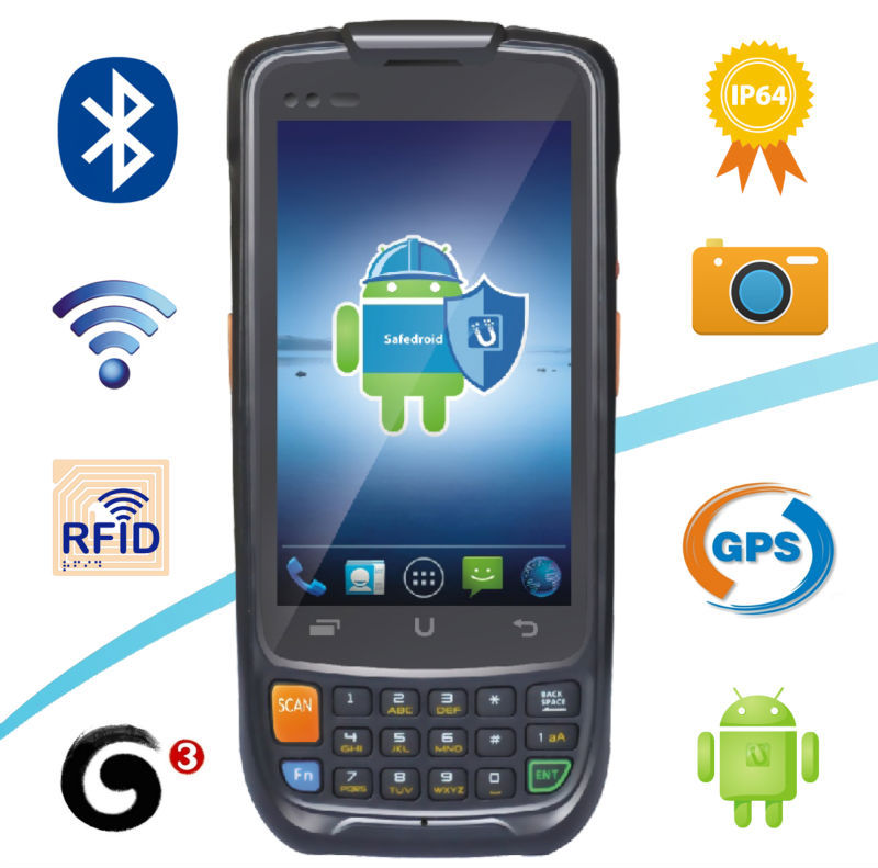 Best Selling Factory Price Retailer Store Use Android PDA Handheld Terminal GPRS WIFI GPS Quad Core 2D Barcode Scanner(China (Mainland))