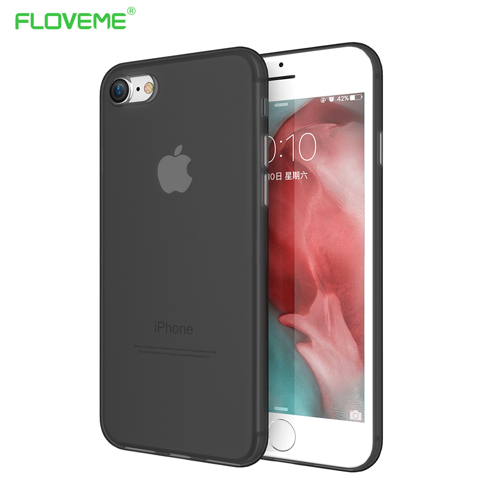 Hard PC Matte Clear Phone Cases For iPhone 7 7 Plus Candy Color Plastic Ultra Thin Slim Cases For iPhone 7Plus Dirt-resistant(China (Mainland))