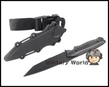 US Army Airsoft Tactical AC-6019 Plastic Knife for Hunting Training Outdoor Camping Survival  Cosplay Knife Model Black