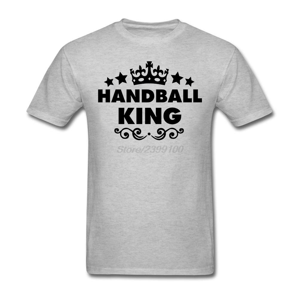 Male Men's Fashion Handball King T-shirt Short Sleeve Father's Day Custom Tee Shirts Male(China (Mainland))