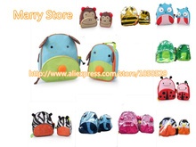 (1lot=2pcs) Cartoon animal zoo school Bags+Meal Bag set Baby Lunch box Backpack Cute Baby Toddler Kids Shoulder B10(China (Mainland))