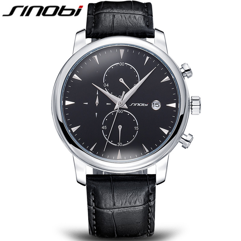 montre homme sinobi top brand clock sports casual