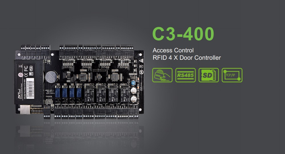 TCP/IP Network Intelligent four doors Acess control Panel/4 relays Door Access Controller Board(China (Mainland))