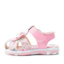 דימי 2019 קיץ בנות סנדלי נוח רך עור מפוצל ילדה קטנה קשת נסיכת נעלי ילדי פרחים חמוד לילדה(China)