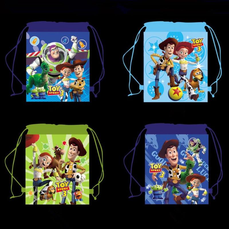 Story 3 Kids Cartoon Drawstring Backpack party Bags Ben 10 Children Cars Backpacks mochila escolar Non-Woven Material 34X27CM(China (Mainland))