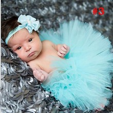 2015 NEW 17 Colors Newborn Tutu Skirt With Matching Flower Headband Stunning Newborn Photo Prop Girls Pettiskirt tutu TT001