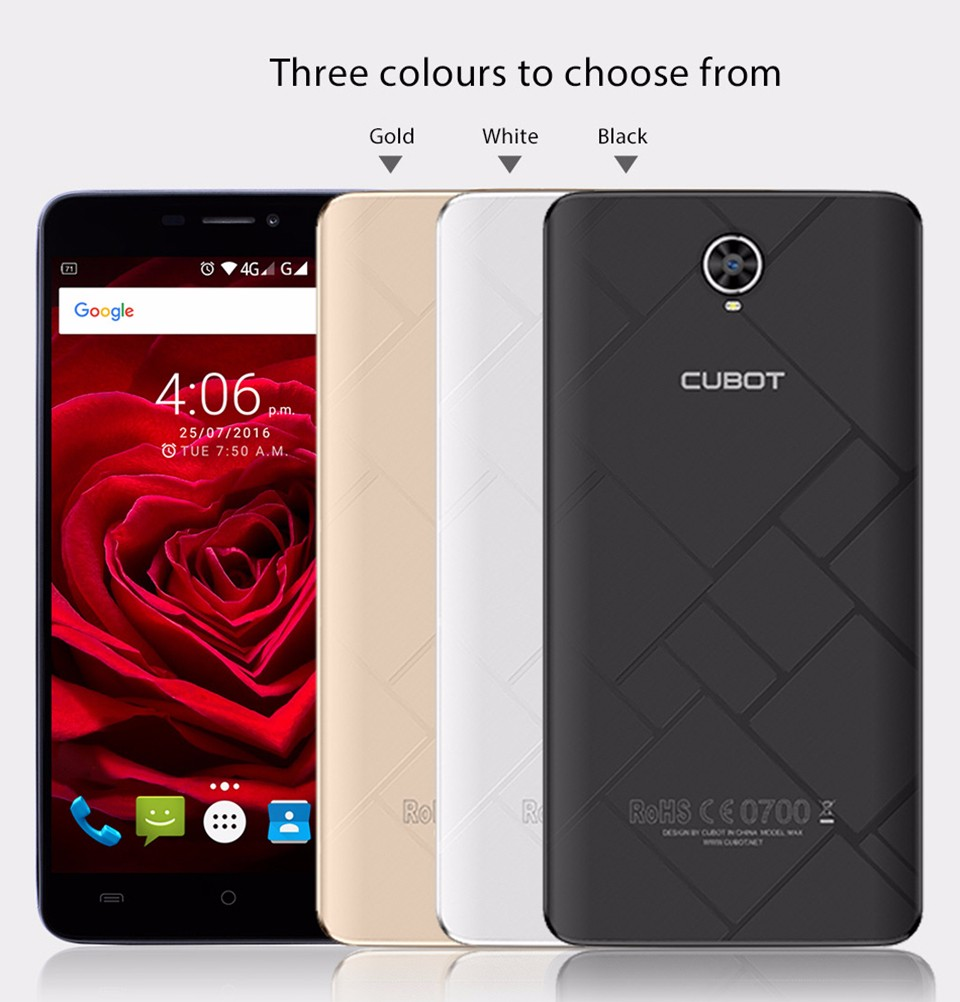 Original Cubot Max MTK6753A Octa Core Android 6.0 Mobile Phone 6.0 Inch HD Screen 4100mAh Smartphone 3GB RAM 32GB ROM Phones A2