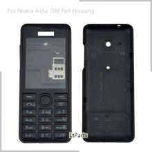 Free shipping mobile phone full housing for NOKIA Asha 206 N206 2060 DUAL SIM case Cover for NOKIA Asha 206 With Keypad(China (Mainland))