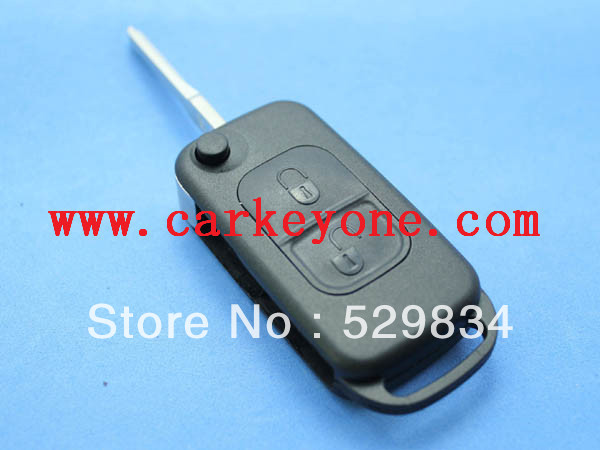 Good quality  2 button flip key shell 2 track  for Mercedes benz with free shipping<br><br>Aliexpress