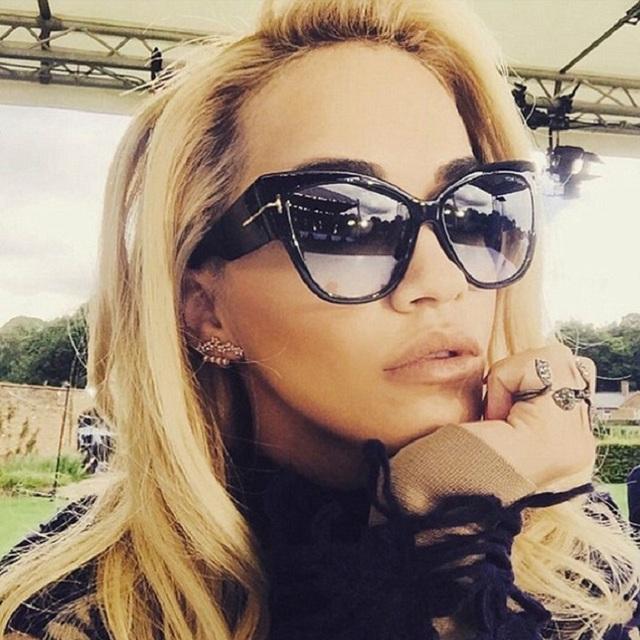 2015 новый градиент точки солнцезащитные очки том высокая мода дизайнер марки для женщин солнцезащитные очки Cateyes óculos feminino де TF